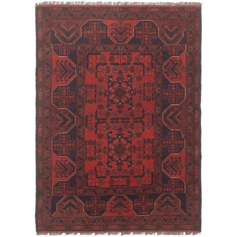 Hand-knotted Finest Khal Mohammadi Copper Wool Rug