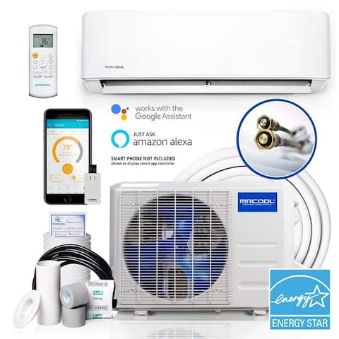 DIY® 3rd Gen 12,000 BTU 22 SEER Energy Star Ductless Mini-Split AC and Heat Pump with 25ft Install Kit 115V
