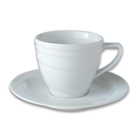 Essentials 4oz Porcelain Cup & Saucer - Hotel