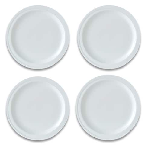 "Essentials Set of 4 8.5"" Porcelain Round Plate - Hotel"