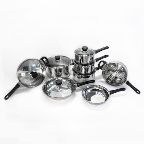 EarthChef 10Pc 18/10 SS Copper Clad Cookware Set