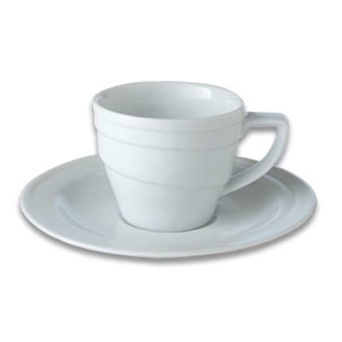 Essentials 3.5oz Porcelain Espresso Cup & Saucer - Hotel