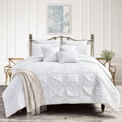 Taniel embroidery 7 piece comforter set