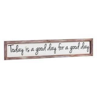 30-inch x 6-inch Today is a Good Day Wooden Wall Art