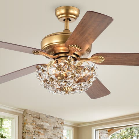 Nickoe Aged Gold 52 inch 5 Blade Ceiling Fan
