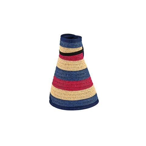 Pbv022 - Women'S Stripe Roll Up Visor - Navy - Womens O/S