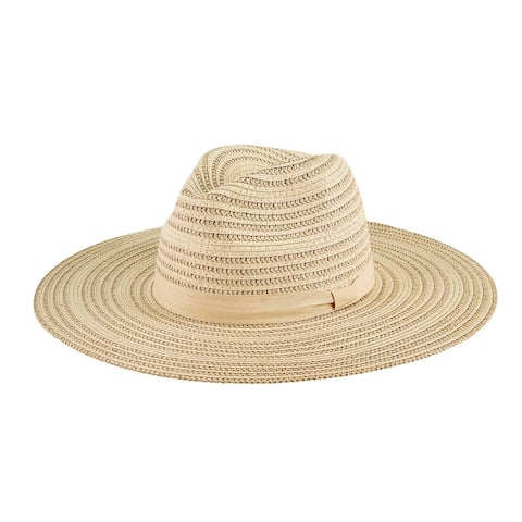 Pbf7357 - Women'S Shimmer Paperbraid Floppy Fedora - Natural - Womens O/S