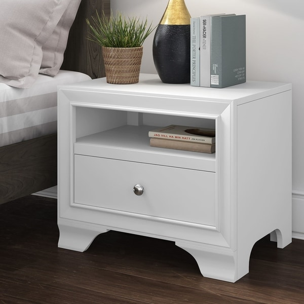 Click Décor Edmond Nightstand with USB
