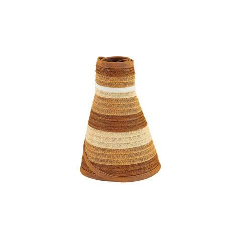 Pbv022 - Women'S Stripe Roll Up Visor - Natural - Womens O/S