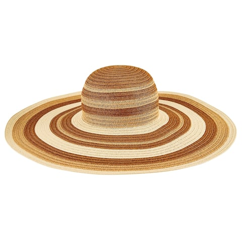Pbl3211 - Women'S Paperbraid Patterned Stripe Sun Hat - Natural - Womens O/S