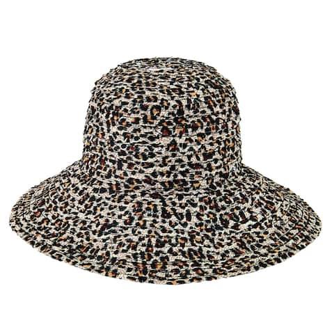 Rbm4785 - Women'S Novelty Pattern Ribbon Hat - Leopard - Womens O/S