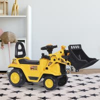 3 in 1 Ride On Toy Bulldozer Digger Tractor Pulling Cart Pretend Play Construction Truck