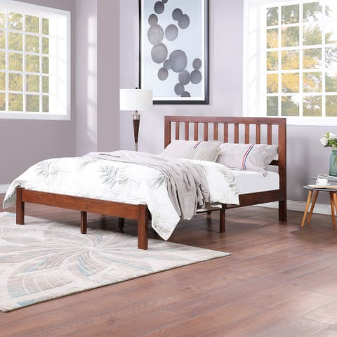 Norgate Modern Farmhouse Acacia Wood Queen Bed Platform by Christopher Knight Home