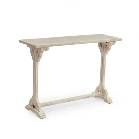 "Owens Traditional Handcrafted Mango Wood Console Table by Christopher Knight Home - 44.25"" W x 14.00"" D x 30.25"" H"