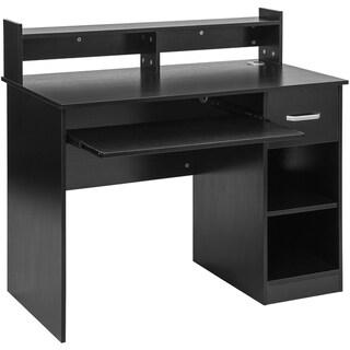Porch & Den Morback Modern 1-drawer Computer Desk with Storage Shelves