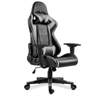 Swivel Gaming Chair/Office Chair/High-Back Ergonomic Height Adjustment Executive Support Desk Chair /Support Headrest and Lumbar