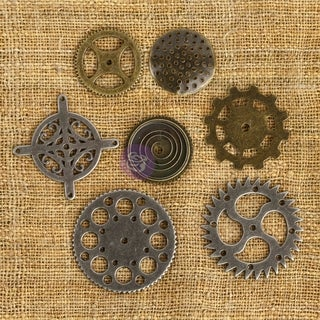 Prima Mechanicals Metal Embellishments-Gears 7/Pkg, MECH-61053