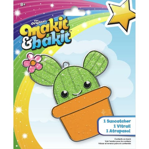 Makit & Bakit Suncatcher Kit-Cactus