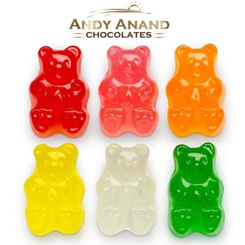Andy Anand Old Fashioned Sugar Free Gummy Bears Mixed Flavors Box 1 lbs