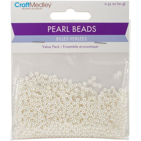 Pearl Beads Value Pack-3mm Ivory 850/Pkg, BD408-A