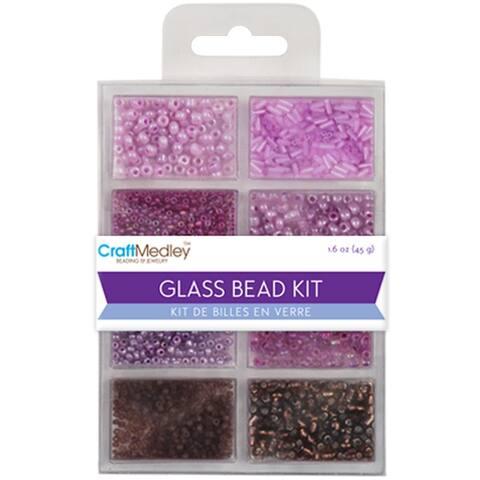 Glass Bead Kit 45g-Viola, BD705-F
