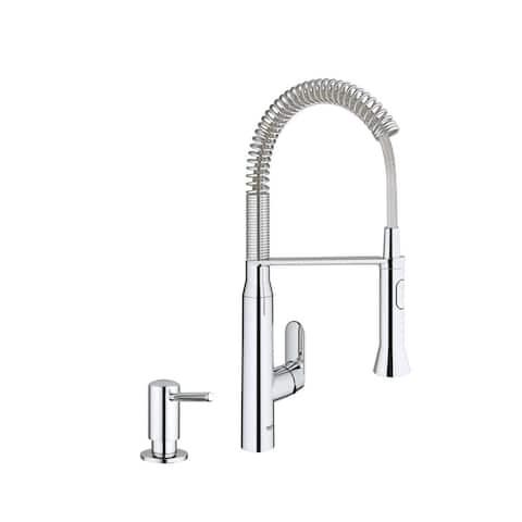 Grohe K7 Semi-Pro Medium Kitchen Faucet with Soap Dispenser