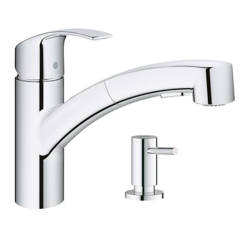Grohe Eurosmart Pull-Out Kitchen Faucet with Soap Dispenser