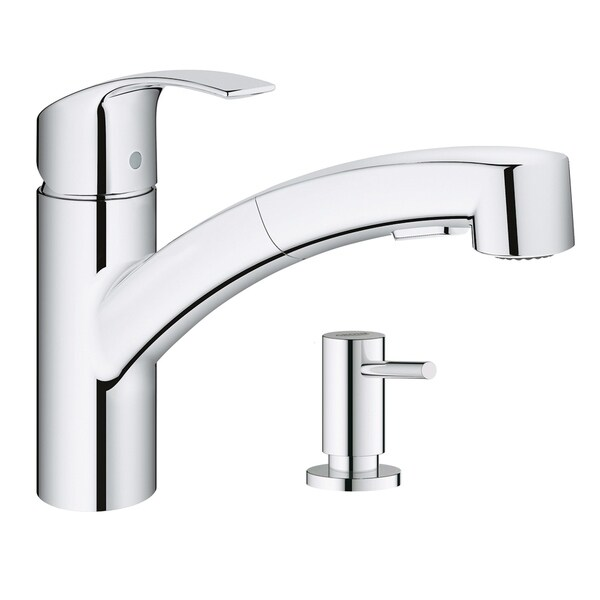 Grohe Eurosmart Pull-Out Kitchen Faucet with Soap Dispenser. Opens flyout.