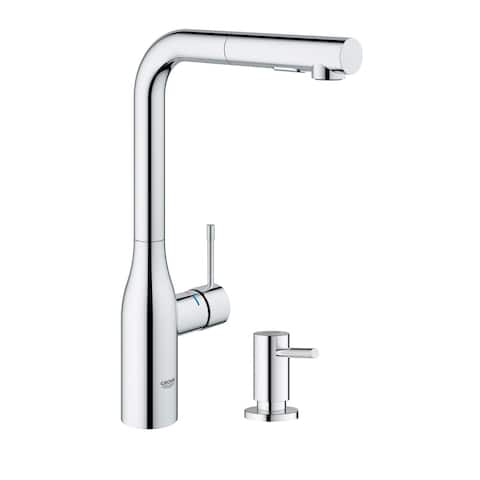 Grohe Essence Pull-Out Kitchen Faucet with Soap Dispenser