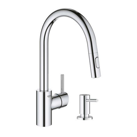 Grohe Concetto Pull-Down Kitchen Faucet with Soap Dispenser