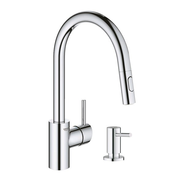 Grohe Concetto Pull-Down Kitchen Faucet with Soap Dispenser. Opens flyout.