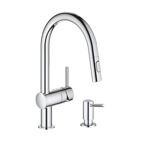 Grohe Minta Pull-Down Kitchen Faucet with Soap Dispenser