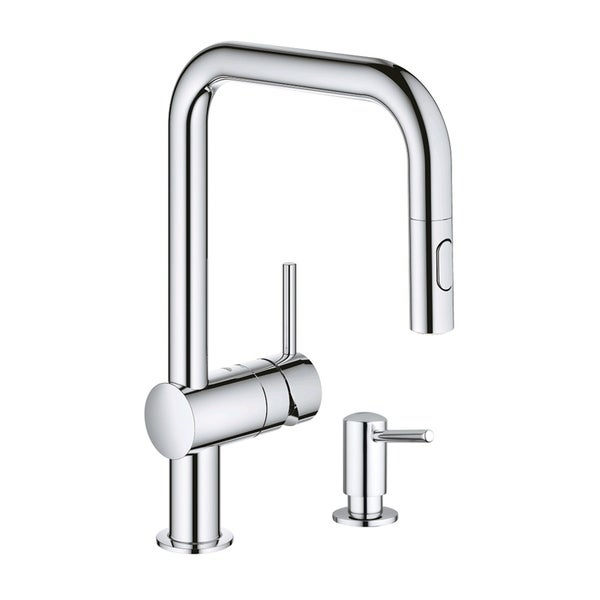 Grohe Minta Pull-Down Kitchen Faucet with Soap Dispenser. Opens flyout.