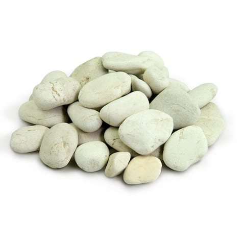 Polynesian Pebble 1000 lbs - Decorative Stones Smooth White Rock Landscaping, Gardening, Potted Plants, and Terrariums