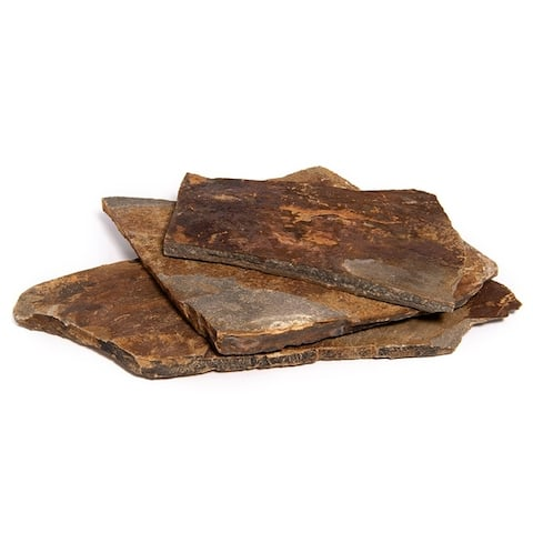 Landscape Patio Flagstone Natural Rock Pathway Stepping Stone Slabs for Gardens, Terrariums, Driveway and Walkways
