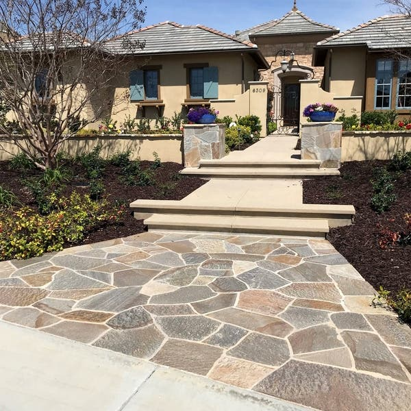 Landscape Patio Natural Flagstone Pathway Stepping Stone Slabs Overstock 30509841