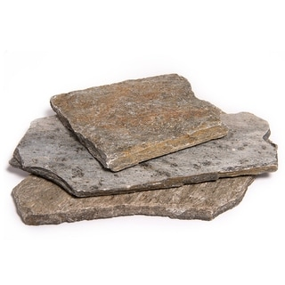Landscape Patio Flagstone | Natural Rock Pathway Stepping Stone Slabs for Gardens, Terrariums, Driveway and Walkways