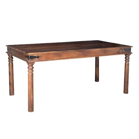"Timbergirl Handcrafted Thakat Dining Table -71"" - 71"