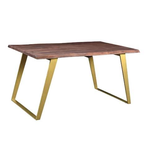 Carson Carrington Vannas Dining Table with Gold Legs