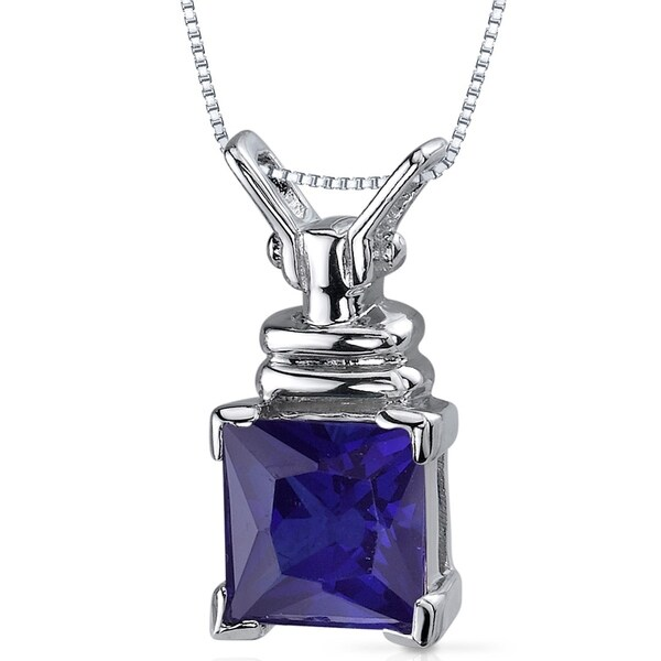 6.75 CT Color Changing Alexandrite Sterling Silver Pendant