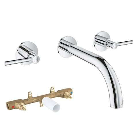 Grohe Atrio Bathroom Wall-Mount Vessel Faucet Kit with Lever Handles