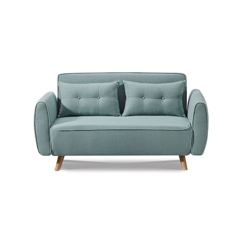 Luca Home Green Tufted Loveseat Bed