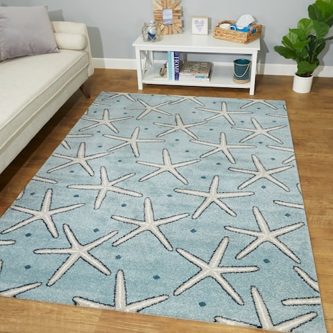 Massau Coastal Starfish Area Rug