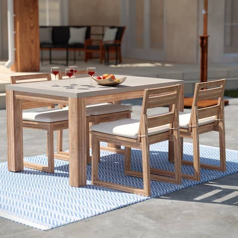 Sarsgard Contemporary Natural Stone Dinette (Set of 5) by Havenside Home