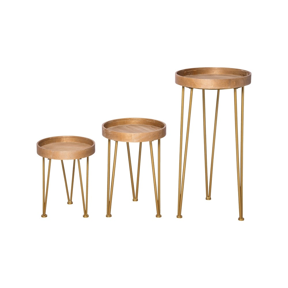 Foreside Home and Garden  Hairpin Nesting Tables, Set Of 3