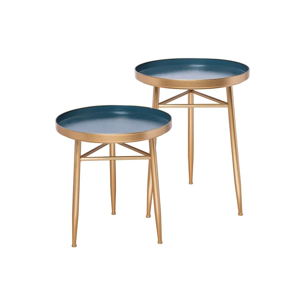 Foreside Home and Garden  Charlene Nesting Tables, Set Of 2