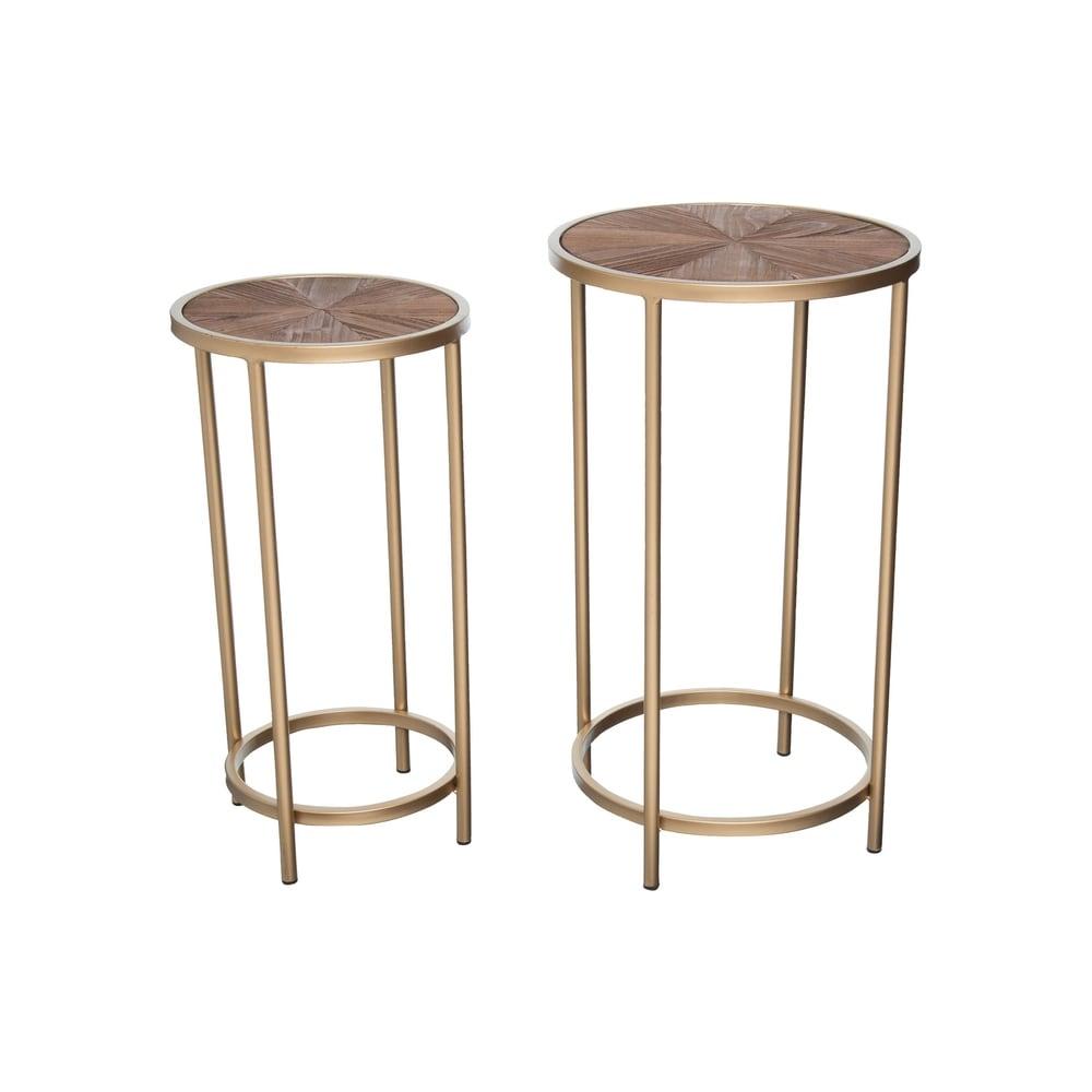 Foreside Home and Garden  Modern Burst Nesting Tables, Set Of 2