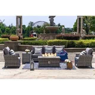 Braylee 5-piece Cushioned Seating Set with Fire Table