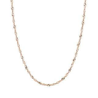 16 Inch 14K Gold Filled Cable Chain Necklace W// Spring Clasp and Closed Rings