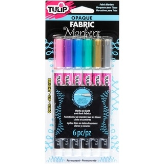 Link to Tulip Opaque Fabric Markers 6/Pkg-Bright Similar Items in Painting